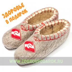 """Валяные чуни """"Спартак"""" из овечьего войлока"""