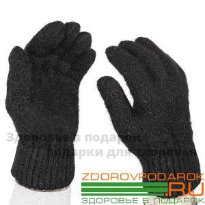 Мужские шерстяные перчатки, черные