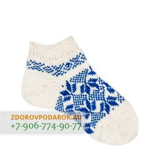 Короткие шерстяные носки с геометрическим орнаментом