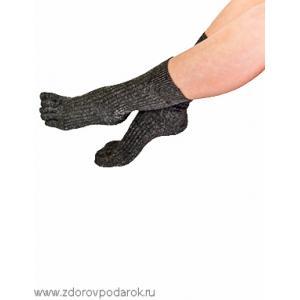 Носки с пальчиками, серые