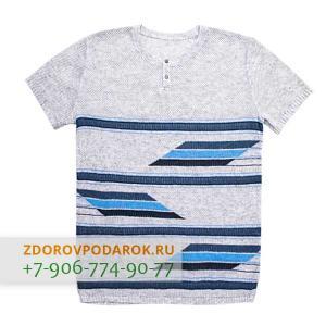 Мужская футболка бело-синяя