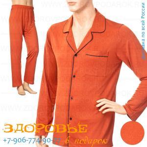 Пижама мужская из бамбукового волокна с ионами меди