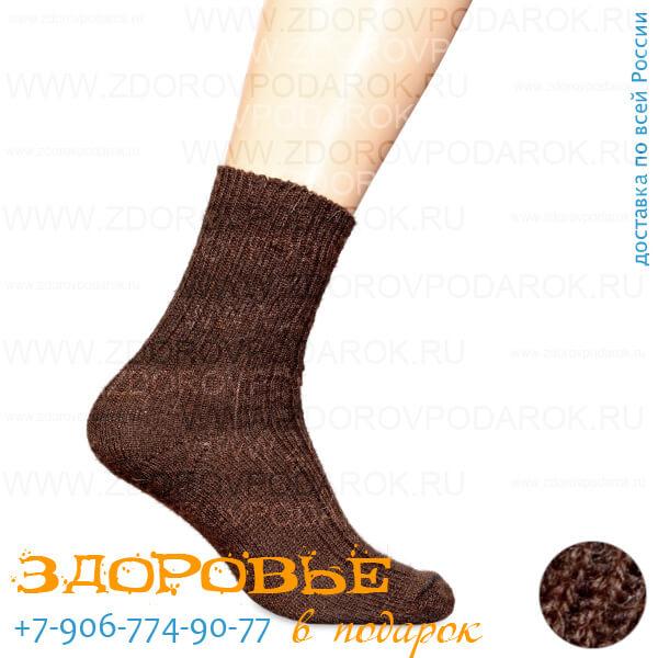 Носки согревающие из верблюжьей шерсти, машинной вязки