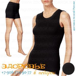 Термобелье из ангоры (комплект майка + шорты) черное