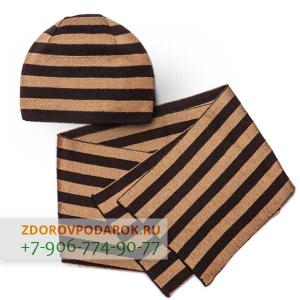 Легкая шапка и шарф из шерсти (комплект)
