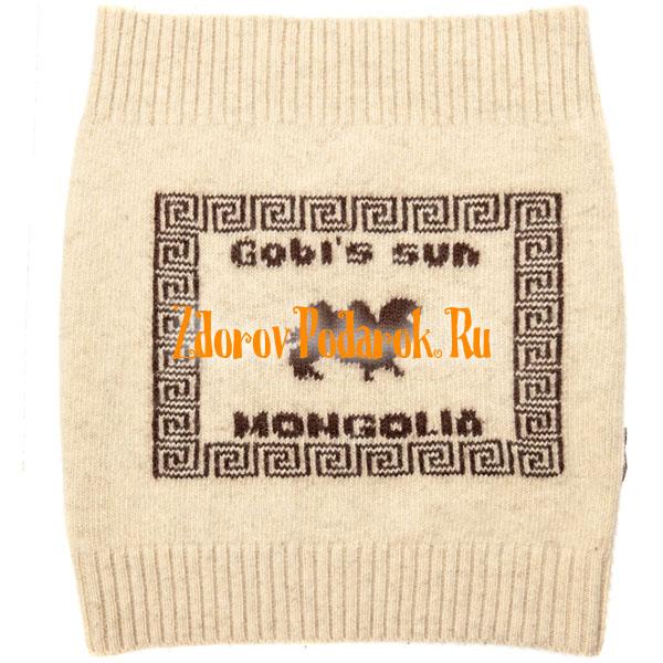Пояс из верблюжьей шерсти вязаный, Монголия, белый