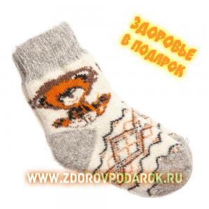 Носки шерстяные с медвежонком