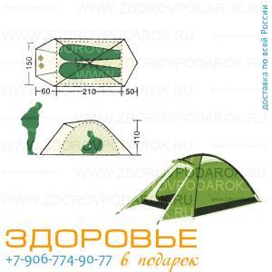 Палатка двухместная с тамбуром, ширина 150см
